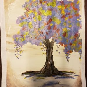 Tree of life cool colors painting